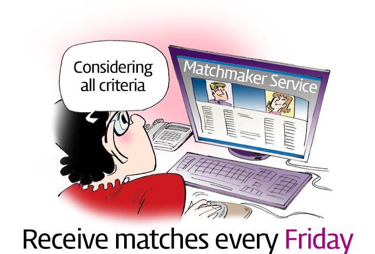 Receive matches every Friday