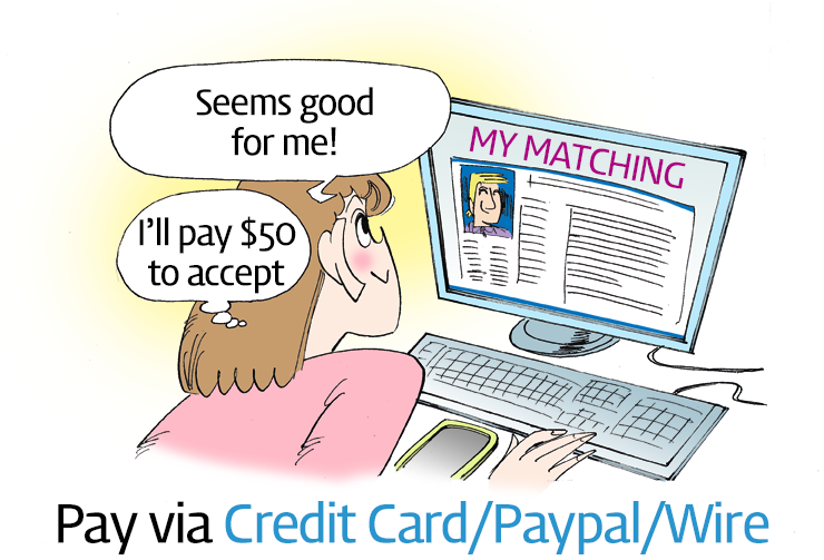Pay via Credit Card/Paypal/Wire